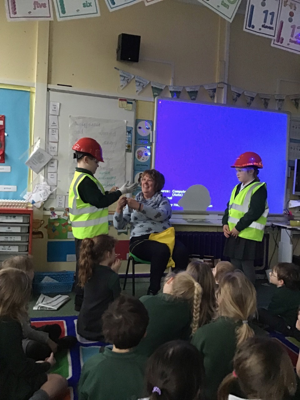 Y1/2's visitor from a recycling centre