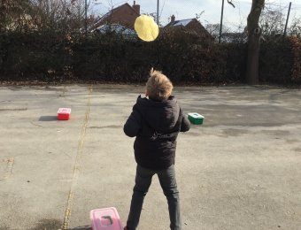 Celebrating Pancake Day in school today with a traditional Pancake Race on the playground!
