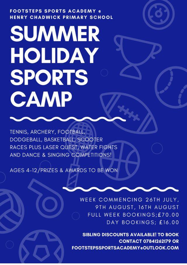 Summer Holiday Sports Camp 2021