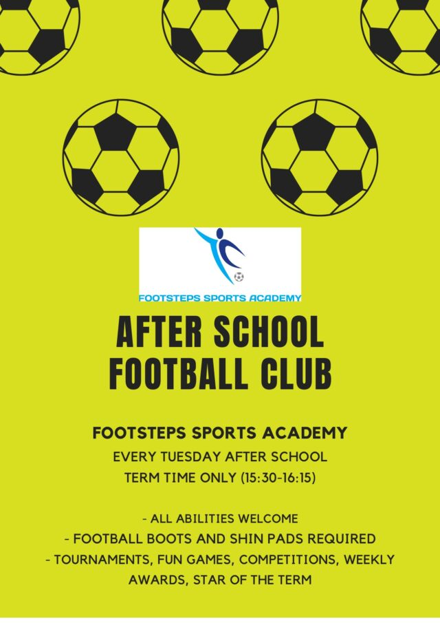 Football After School Club Years 1 to 6 (Sept to Dec 2021)