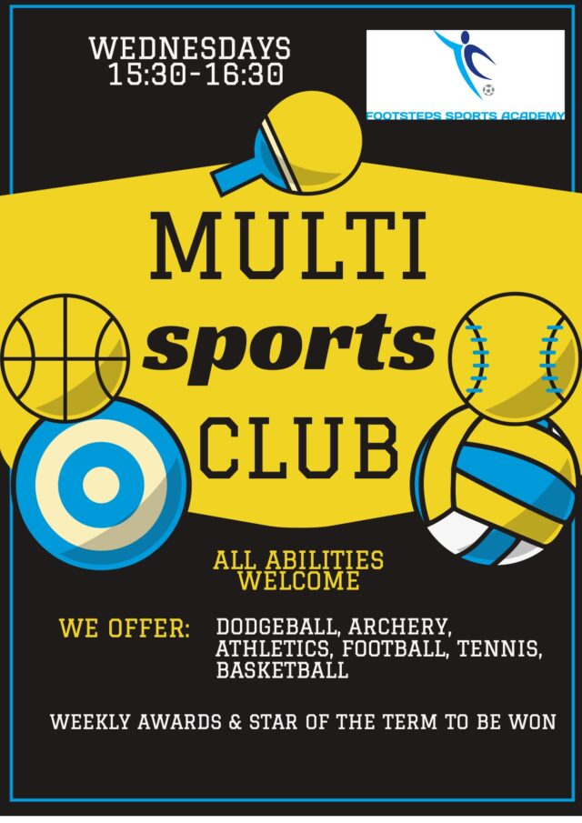 Multi Sports After School September to December 2021
