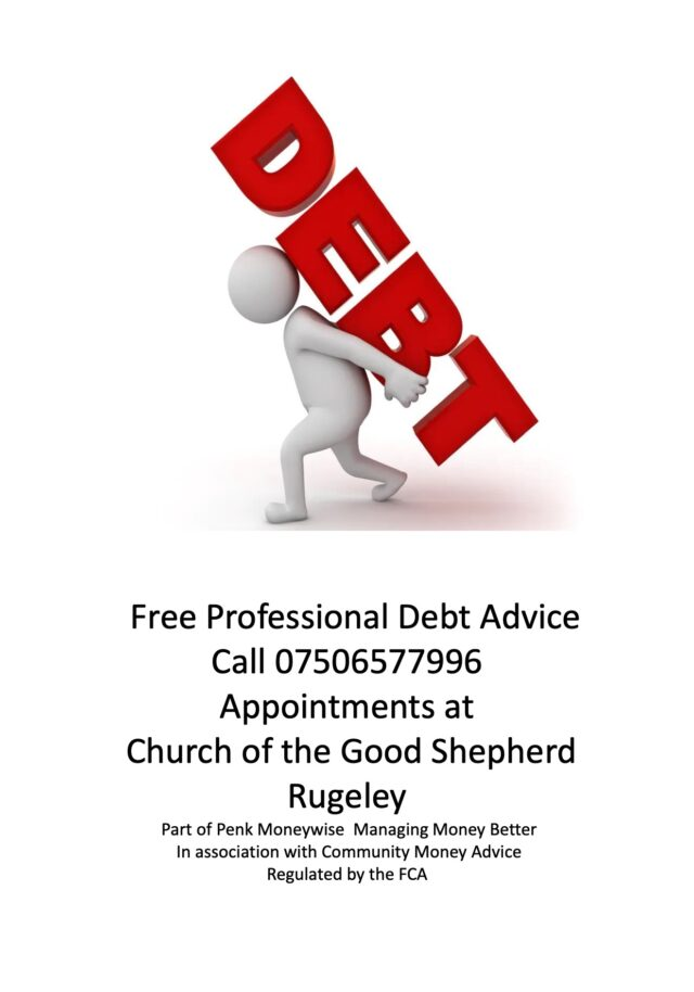 Free Debt Advice in Rugeley